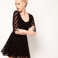 Minkpink 'Formerly Known As' Velvet Spot Dress at asos.com