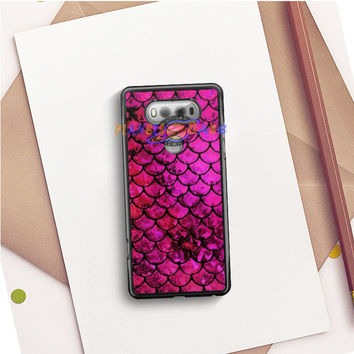 Pink Mermaid Fish Scale LG V20 Case Planetscase.com