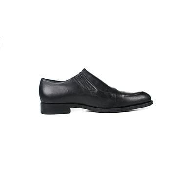 Gucci Black Leather Men's Loafers US 12