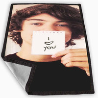 Harry Styles One Direction I Love You Blanket for Kids Blanket, Fleece Blanket Cute and Awesome Blanket for your bedding, Blanket fleece *