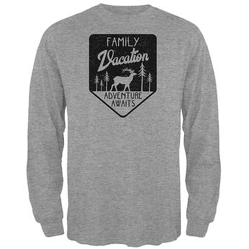 Family Vacation Adventure Awaits Mens Long Sleeve T Shirt