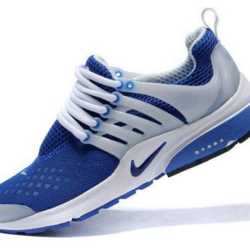 NIKE new leisure sports shoes Sapphire blue and white