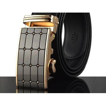 Men Belt Automatic Buckle Luxury Leather Belts For Men High Quality Fashion Designer Men Belts Hombre