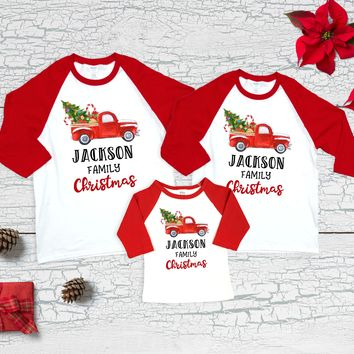 Matching Family Christmas Shirts Christmas Truck Family