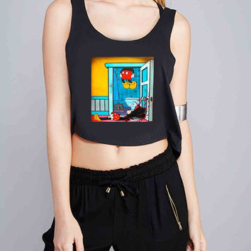 mickey and minnie mouse dead for Crop Tank Girls S, M, L, XL, XXL *07*