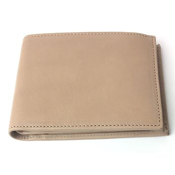 Gucci Men's Beige Washed Soft Leather Trifold Medium Wallet 333042