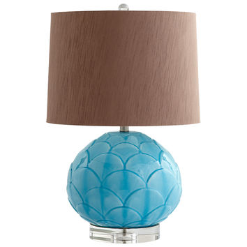 Aqua Leaf Table Lamp