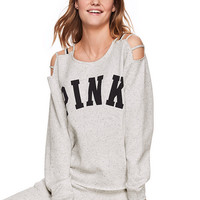 Campus Strappy Shoulder Crew Tunic - PINK - Victoria's Secret