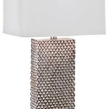 Table Lamp, Platinum Column Lamp, Resin, Table Lamps
