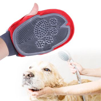 Silicone Pet Dog Brush Glove Cat Brush Massage Animal Shower Bathing Brush Comb Pet Bath Cleaning Dogs Supplies Accessories