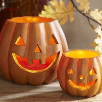 Jack O'Lantern Luminaries - traditional - holiday outdoor decorations - by Pottery Barn
