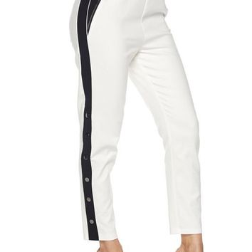 Stripe Next To You Track Pants White