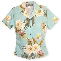 mountain hawaiian lady blouse