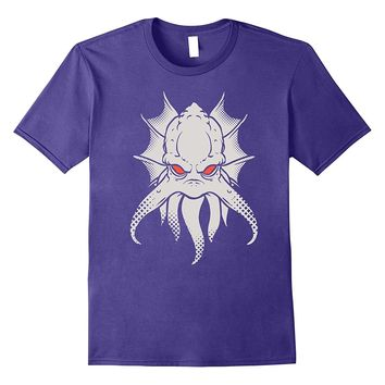 Alien Squid Kraken Monster Red Eyes Printed T Shirt Design