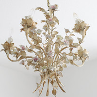 Antique French Tole Chandelier