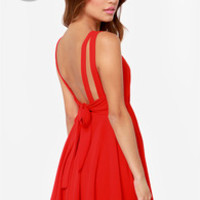 LULUS Exclusive Tie Way or the Highway Red Dress