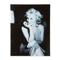Marilyn Monroe Pose Black and White Wall Canvas