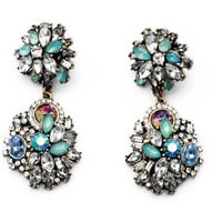 Embellished Flower Drop Earrings