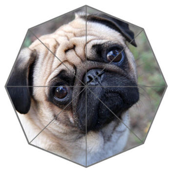 Friend Birthday Gift Good Quality Umbrella Cute And Funny Pug Dog Patten12 For Kids Portable Foldable Umbrellas Outdoor Umbrella
