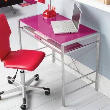Mainstays Glass-Top Desk, Multiple Colors - Walmart.com