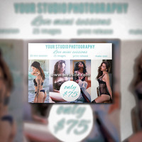 Photography Flyer, Mini Session PSD Template, Photography Marketing Template