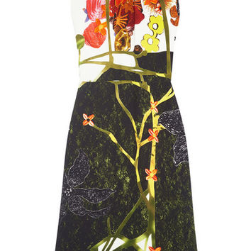 Prada - Printed crepe midi dress