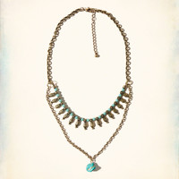 Stone Layered Necklace