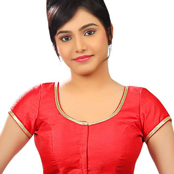 Mesmeric Red Silk Sari Blouse SNT-X-259-SL