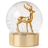 Golden Holidays Reindeeer Snowglobe by Lenox