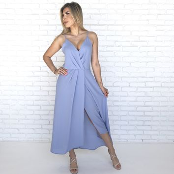 Moonlight Lover Midi Dress in Baby Blue