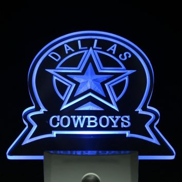 ws0142 Dallas Cowboys Sport Bar Day/ Night Sensor Led Night Light Sign
