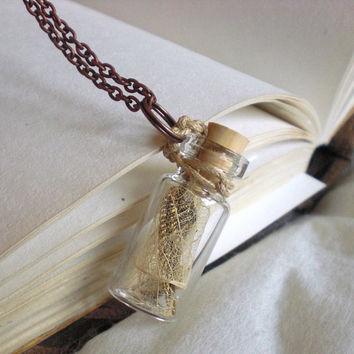 Fairy Wings in a Bottle Necklace by grendelboots on Etsy