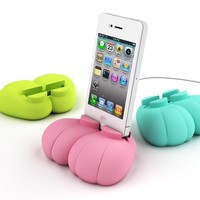 Footee Character Dock with 30pin USB Cable for iPhone and iPod (Black)