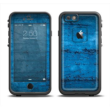 The Dark Blue Scratched Stone Wall Apple iPhone 6 LifeProof Fre Case Skin Set