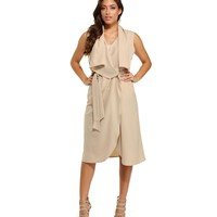 Taupe See Me Through Vest