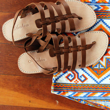 Shanti Sandals Brown Leather - Arnhem Clothing