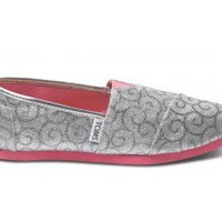 Silver Swirl Pattern Youth Classics | TOMS.com