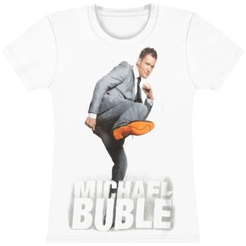 Michael Buble  Kickout Junior Top White