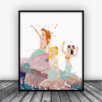 Neverland Beach Art Print Poster