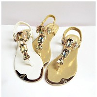 Woman Rhinestone Sandals