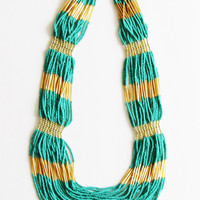 Turq Beaded Necklace