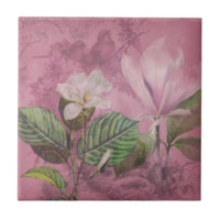 Vintage Magnolia Song Apparel and Gifts Tile