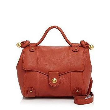 SEE BY CHLOE Dixie Terracotta Rust Grained Leather Crossbody Bag