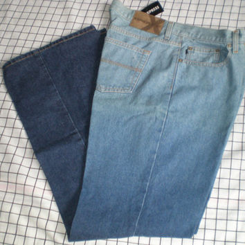 Express blue jeans, fade out blue dye, ladies jeans, flare leg jenas,  size 13/14