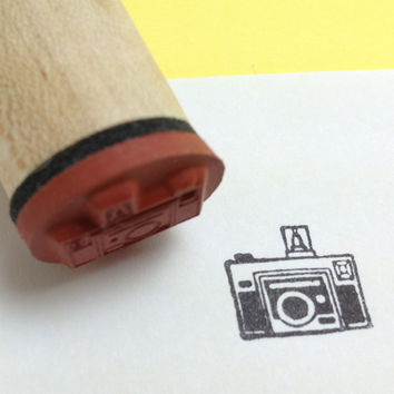 Retro Camera Rubber Stamp