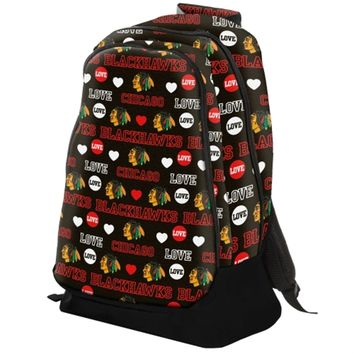 Chicago Blackhawks Mural Love Backpack