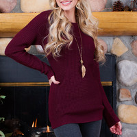 Baijee Knit Top - Burgundy