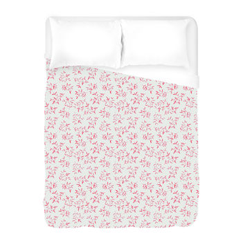 Pink Leaves II Duvet Cover