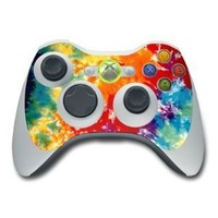 Tie Dyed Design Skin Decal Sticker for the Xbox 360 Controller