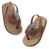 Carter's Faux Leather Flip Flops
